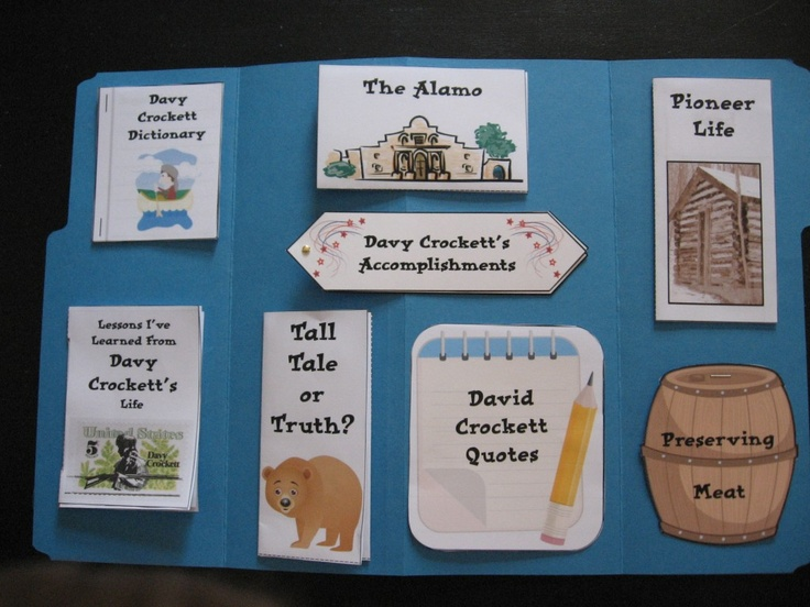 Davy Crockett lapbook from the Davy Crockett Download N Go!