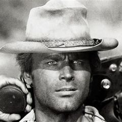 Terence Hill is a legendary Italian actor (born as Mario Girotti), who became famous for playing in Italian western movies (a.k.a spaghetti westerns) together with his friend and partner Bud Spencer. Their most popular titles during the 70's were: Boot Hill, They Call Me Trinity and the sequel titled Trinity is Still My Name. In 1973 Terence Hill starred in My Name is Nobody alongside American legend Henry Fonda,------ Love these Trinity movies