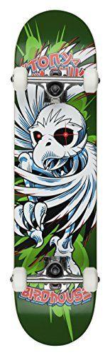 "Birdhouse Skateboards Beginner Grade Tony Hawk Spiral Complete Skateboard, Green, 7.5″: 7.5"" 7 ply hard rock Maple deck Birdhouse branded…"