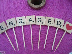 Wooden Scrabble Letter Wedding Engagement Birthday Cake Topper Personalised | eBay