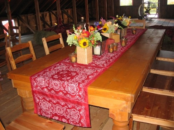 barn party tables need this for my family for the home barn rh pinterest com