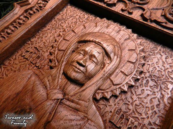 St Matrona Moscow wood Wooden icon Wood carvings Religious #woodenicon #woodcarvings #religiouswood #christmaswood #engravedwood #religiousgift #iconsofsaints #nativitywood #catholicswood #orthodoxwood #easterwood #icon #carvings #religious #christmas #engraved #gift #saints #nativity #catholics #orthodox #easter