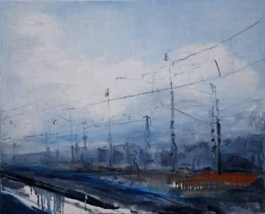"Saatchi Art Artist Monika Vitanyi; Painting, ""Bahnhof 4"" #art"