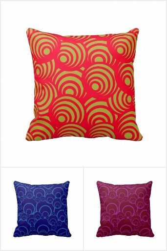 Circle Designed Throw Pillows