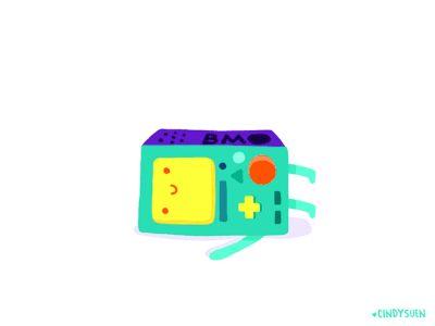 I made a 5 seconds bmo cartoon network logo animation for fun.  Watch it with sound here:  http://vimeo.com/cindysuen/bmo