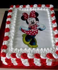 Resultado de imagen para torta de minnie con crema