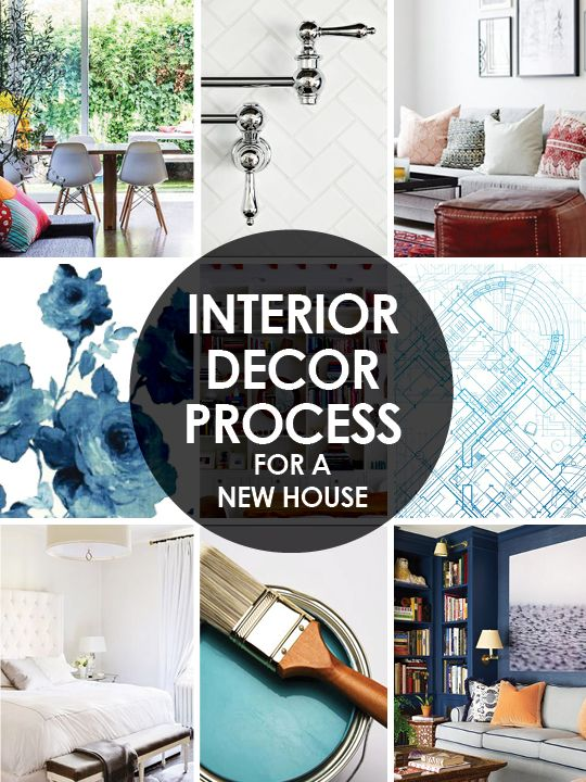 Step by step interior decor plan for moving into a new house.