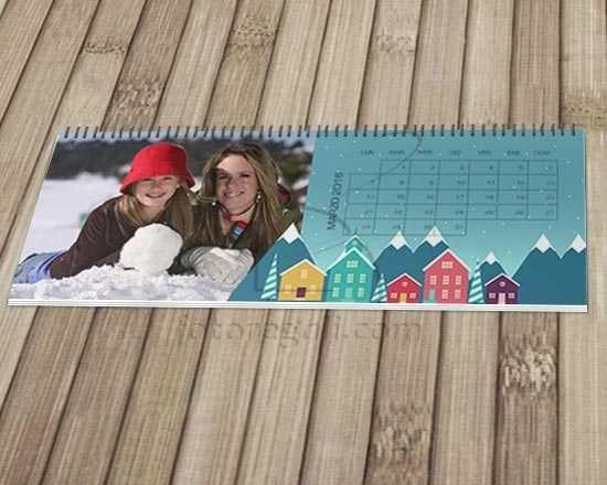 Un originale calendario con grafica colorata