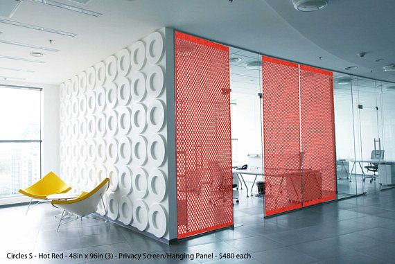 Felt Panels and Dividers Laser Cut Designer Design CircleS Interior Room Divider Modern