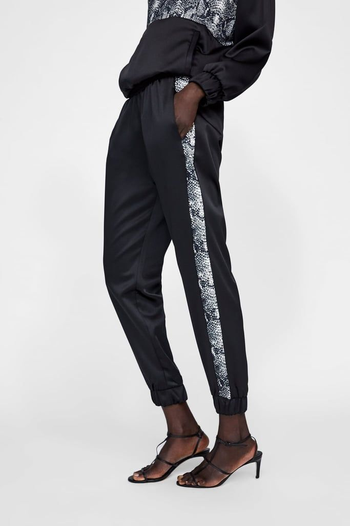 f6ed1298193a87 Zara Jogging Pants With Snakeskin Print Stripe | Jeans/Pants | Snake ...