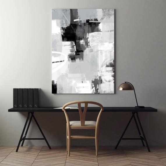 Grey Abstract Art, Modern Printable Decor, Black White and Grey Art, Modern Minimal Wall Art, Instant digital download, Set of three prints  #Abstract #Art #Modern #Grey #Interiors #Printable #Contemporary #Minimal