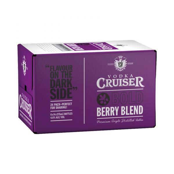 Rượu Vodka Cruiser Bold Berry Blend 4,6% - Chai 275ml - Rượu Nhập Khẩu TPHCM - douongcaocap.vn