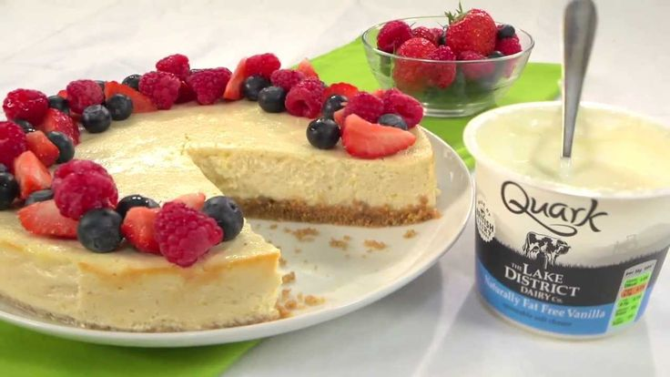 RECIPE - HOW TO MAKE A QUARK NEW YORK CHEESECAKE WITH 400 FEWER CALORIES - YouTube