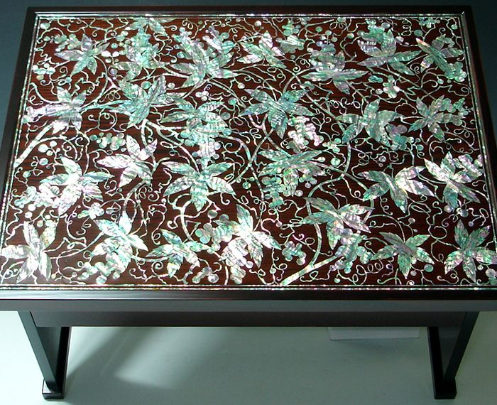 korean mother of pearl inlay inlay coffee table decor with lacquer rh pinterest co uk