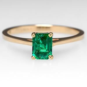 emerald engagement ring antique
