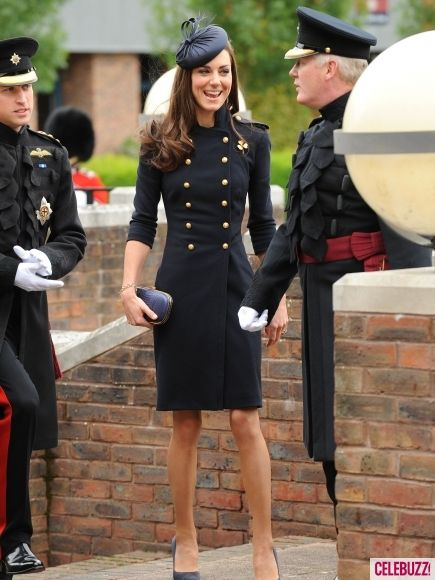 Kate Middleton - this outfit is beyond perfection! Love military style buttons.