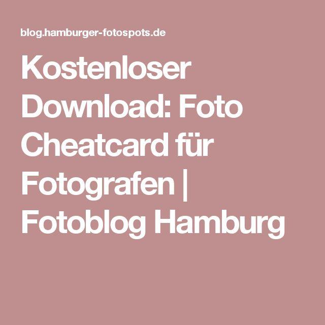 Kostenloser Download: Foto Cheatcard für Fotografen | Fotoblog Hamburg
