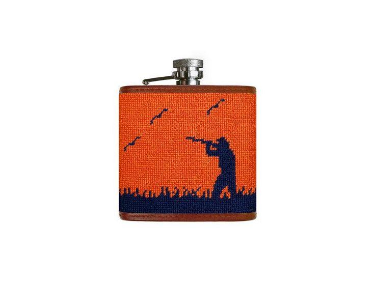 Smathers & Branson, Bird Hunter Needlepoint Flask