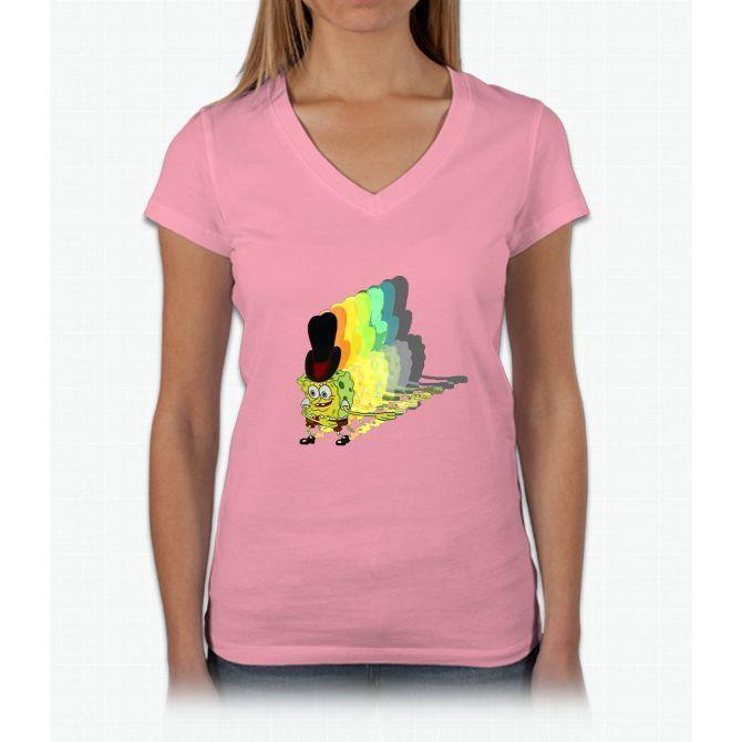 Spoons Rattling Womens V-Neck T-Shirt