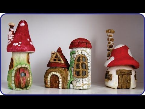 ❣DIY Faux Stones & Wood - Fairy House Jars❣ - YouTube