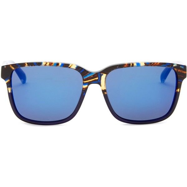 Marc by Marc Jacobs Women's Rectangle Sunglasses ($40) ❤ liked on Polyvore featuring accessories, eyewear, sunglasses, tortoise sunglasses, mirror glasses, mirror sunglasses, tortoise shell sunglasses and mirrored sunglasses