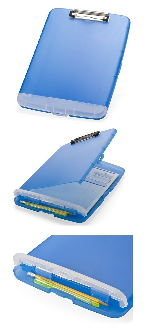 Clipbard with extra storage for pens http://geekandhip.com/product/slim-clipboard-storage-box/