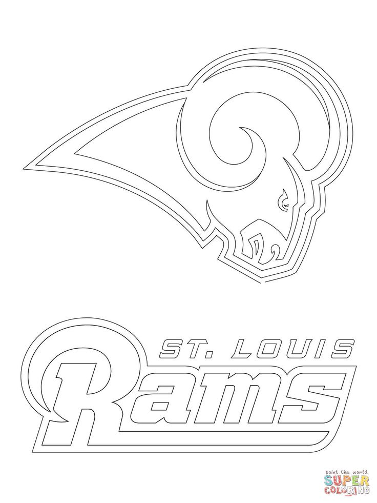 free printable nfl team logo coloring pages | St. Louis Rams Logo coloring page | Free Printable ...