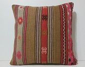 24x24 kilim pillow 24x24 large antique cushion extra large sofa throw pillow big bed pillow outdoor decorative pillow brown pillow red 15872