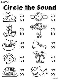 Digraph practice with those tricky ch and sh sounds                                                                                                                                                     More