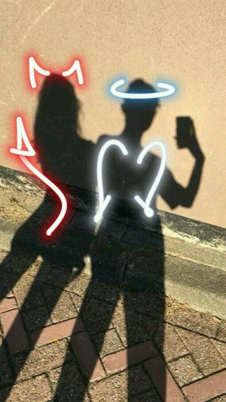 Mi bff y yo eya el ángel y yo él demonio