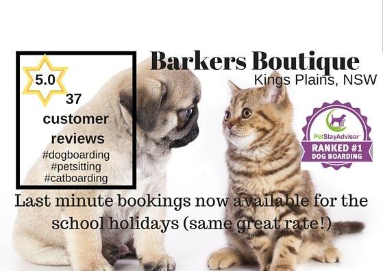 #schoolholidays #petboarding #BarkersBoutique #CentralTablelands #vacancies no surcharges! http://barkersboutique.com/