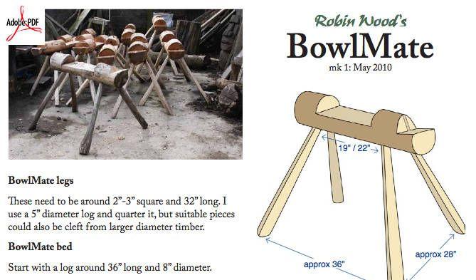 Dowload free plans to make the bowlmate a bowl carving