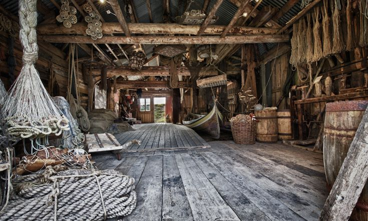 An Old Boathouse Wood Plank Walls Pirate Bedroom
