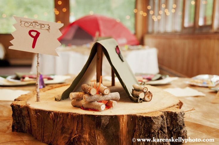 Camping themed wedding at Sunlight Mountain Resort, Glenwood Springs CO by Durango Photographer