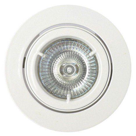 Kit 1 spot à encastrer salle de bains orientable halogène INSPIRE GU10 blanc