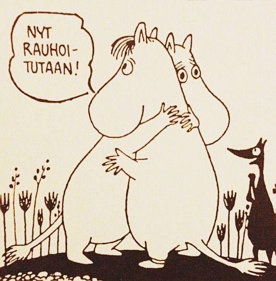 Moomintroll & Snorkmaiden #moomins