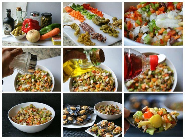 Éxito asegurado! Cocina Mejillones a la vinagreta. Reto recetas sanas con esta receta paso a paso y sorprende a tu familia. Recetas fáciles para cocinar rico y variado con poco dinero.