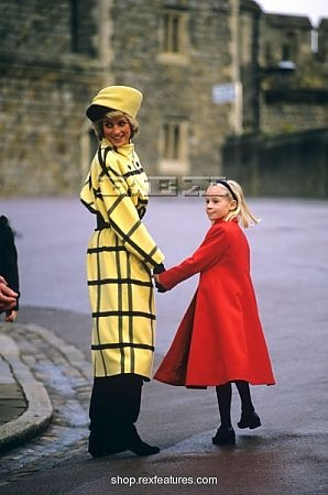 Princess Diana with Lady Rose Windsor-daughter of the Duke and Duchess of Gloucester
