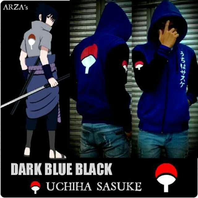 Jaket Anime Uchiha Sasuke Blue
