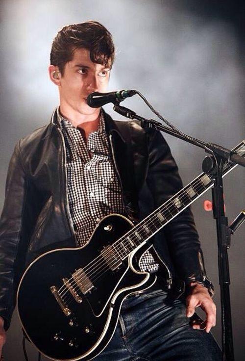 Alex Turner & a guitar