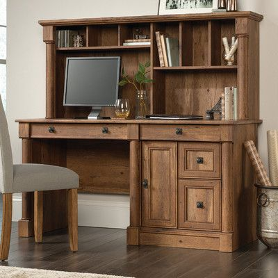 darby home co sagers computer desk with hutch interiors rh pinterest com
