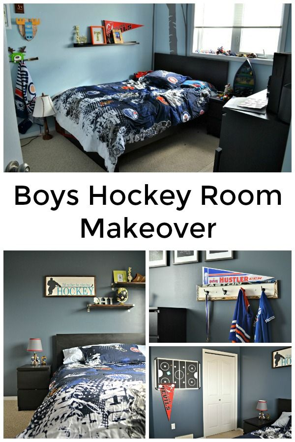 38 best gifts images on pinterest christmas crafts gift for Boys hockey bedroom ideas