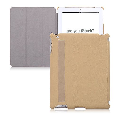 Leather Texture Smart Case for iPad - Beige Color #blackfriday #discount #leathercase #smartcase #beigecase #cellz.com $19.85