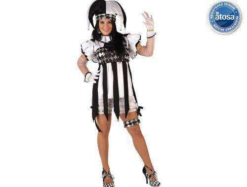 Tu mejor disfraz de arlequin mujer xl.con este disfraz original y diverdito en tus fiestas de disfraces o carnaval o despedidas de soltera.