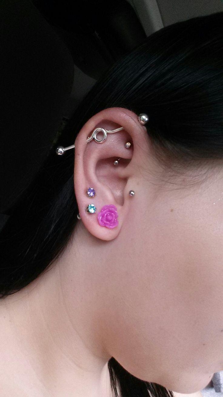 Piercing from nose to ear  De  beste bildene om piercings på Pinterest