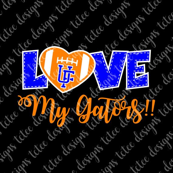 Love My Florida Gators College Football SVG File by TCTeeDesigns