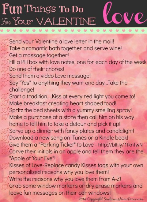 Fun things to do for with Valentine 30 Fun and Creative Things To Do with Your Valentine