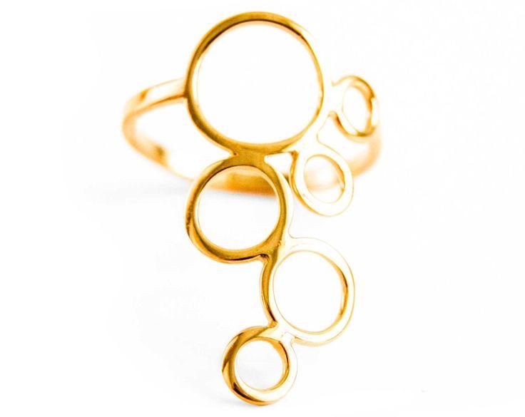 Bubble ring, forgyldt – StineVesten