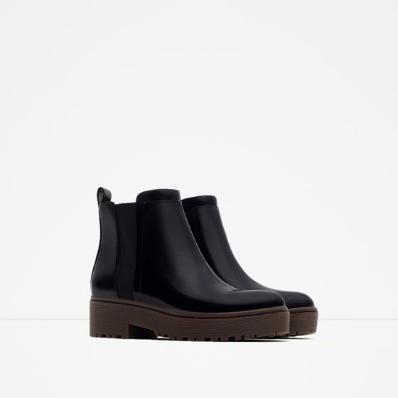 Image 2 of FLAT TRACK ANKLE BOOTS from Zara