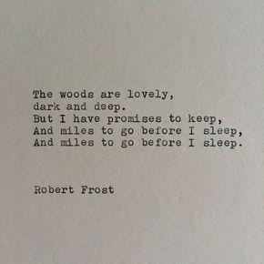 Robert Frost Typewriter Quote / Handtyped On by WhiteCellarDoor